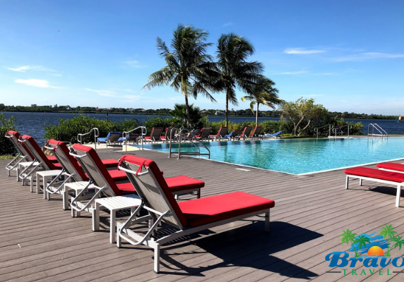 view of pool at Club Med Florida all-inclusive resort