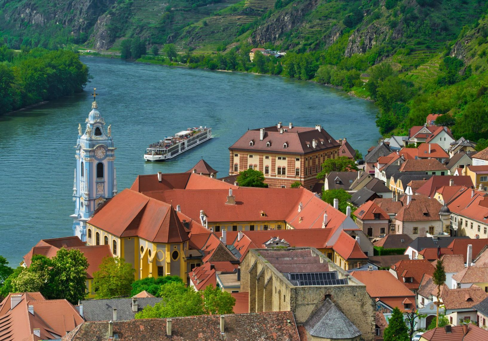 River cruise along Danube river