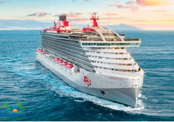 Exterior image of Virgin Voyages Cruise Ship